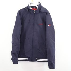 Tommy Hilfiger Mens Large Spell Out Jacket Blue